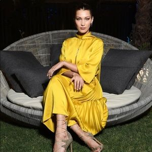 Bella Hadid Yellow Fendi Dress $3000 IT 38 XS/S